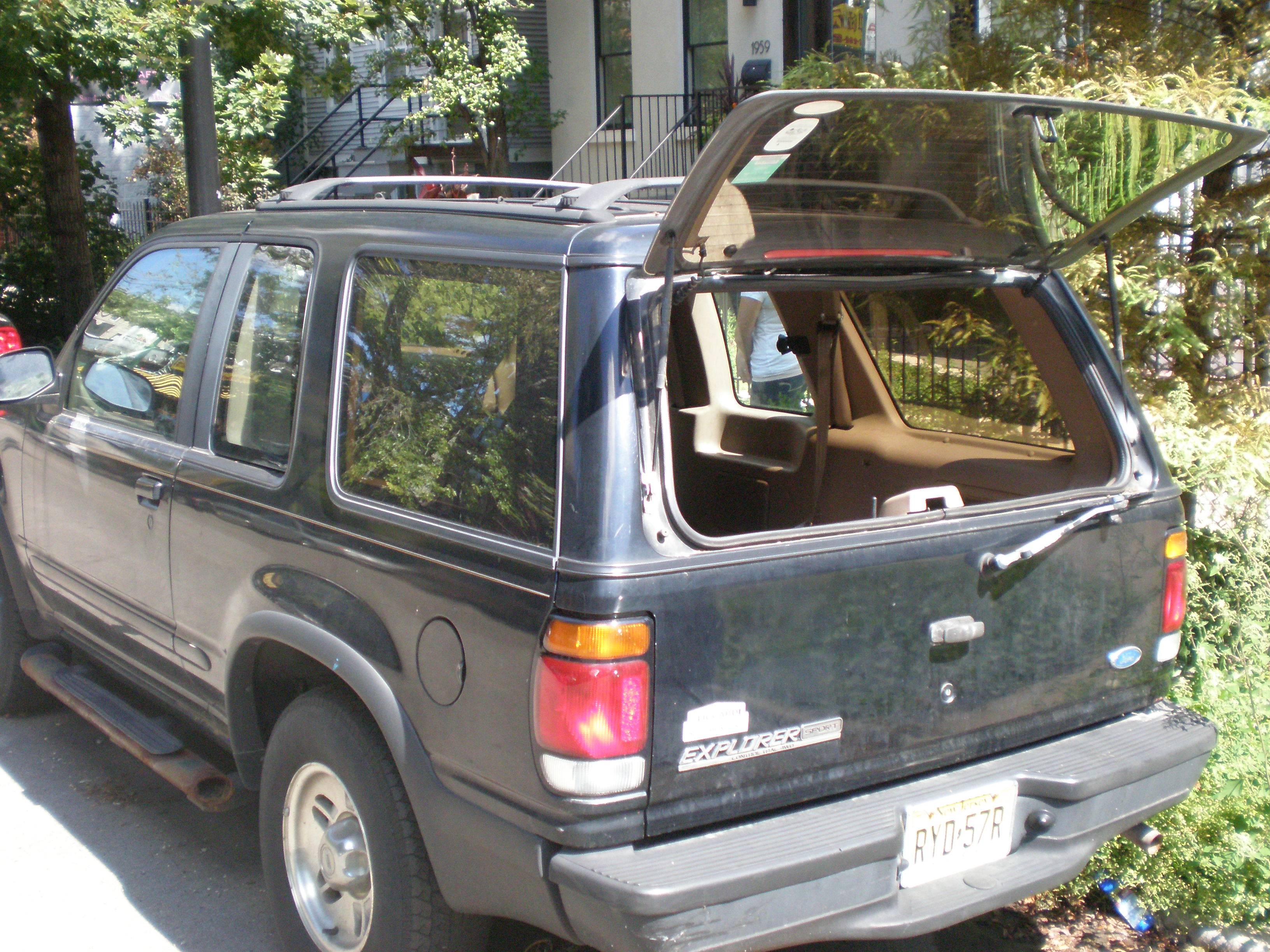 Rear with window ope