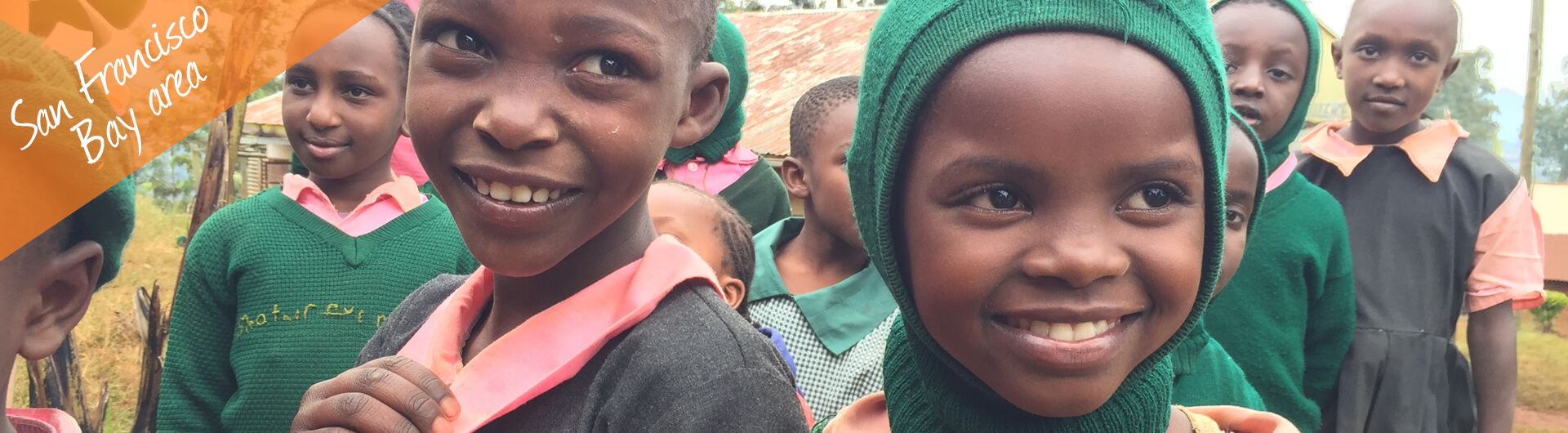 San Francisco Car Donation Banner | African Children Smiling Wearing School Uniforms